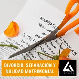 Divorcio, separación y anulación matrimonial